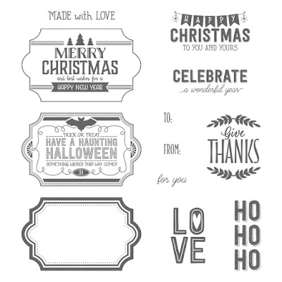 Looking for a great festive greetings stamp set for your stash, then look no further than the Labels To Love stamp set - http://bit.ly/LabelsToLove