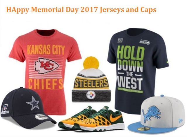 Happy Memorial Day 2017 Jerseys and Caps