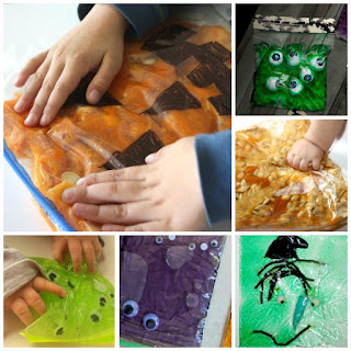 Halloween sensory bags for kids