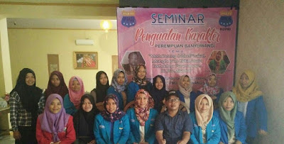 Korps PC PMII Putri Banyuwangi Selenggarakan Seminar Penguatan Karakter Perempuan