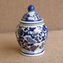Blue and White Decorative Vase