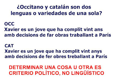 occitano, catalán, política, lingüística