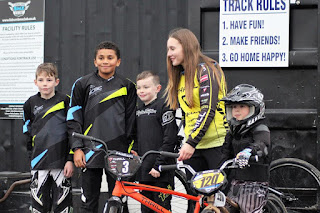 Vineta Petersone with belfast city bmx club