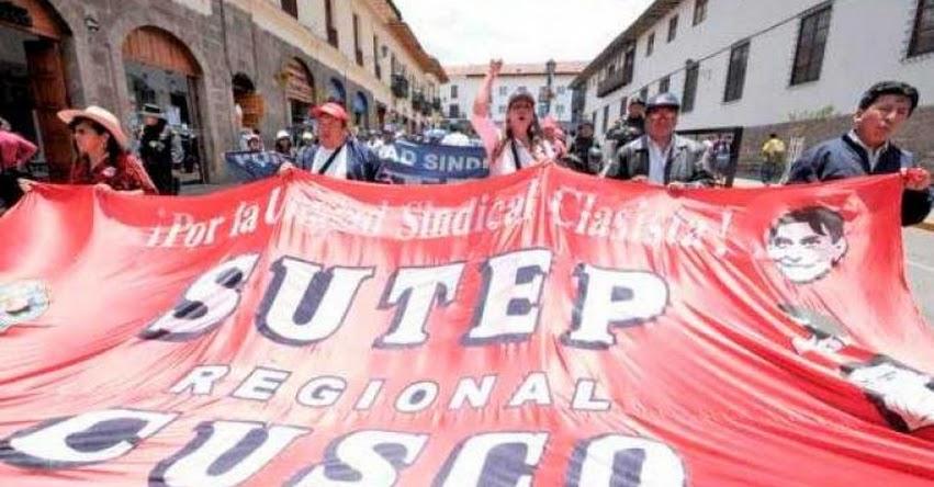 SUTEP Cusco evaluará huelga indefinida el 20 de febrero