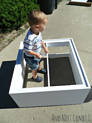 Size of our DIY light table from And Next Comes L