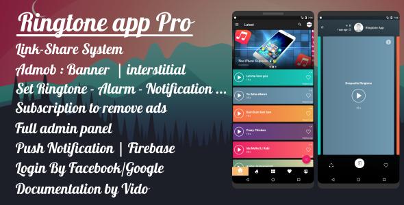 Ringtone App Pro - Material Design Android App Full Source