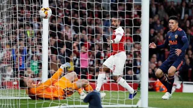 Hasil Liga Europa: Lacazette Dua Gol, Arsenal Kalahkan Valencia 3-1
