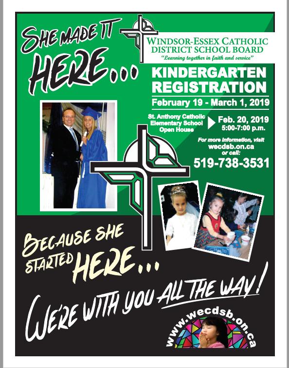 St  Anthony School News: Kindergarten Open House Tonight