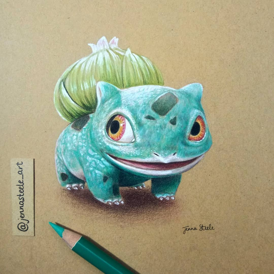 06-Bulbasaur-Pokemon-Jenna-Steele-Collection-of-Pencil-Drawings-www-designstack-co
