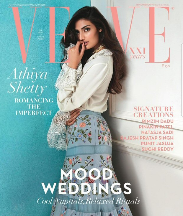 Athiya Shetty On The Cover of Verve Magazine September India 2017