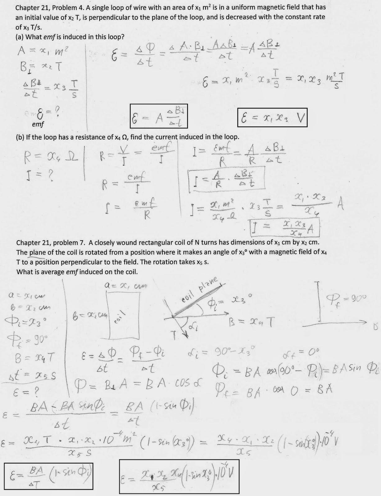 ∰ Algebra Based General Physics II: Solutions: Chapter 21
