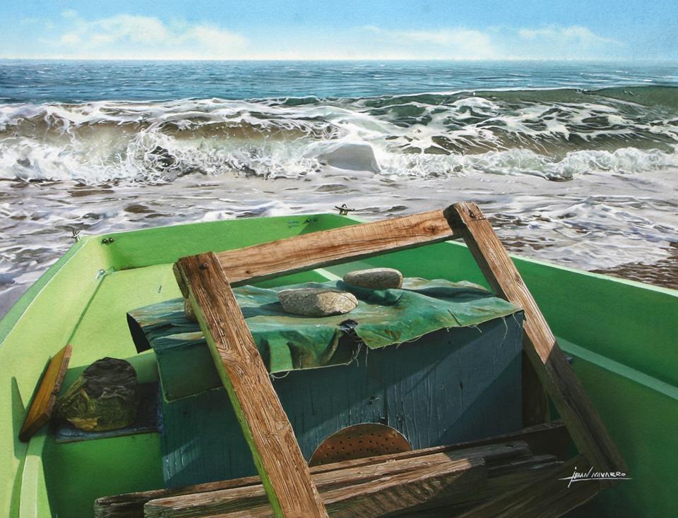 08-Iban-Navarro-Watercolour-Paintings-of-the-Seaside-that-look-like-Photographs-www-designstack-co
