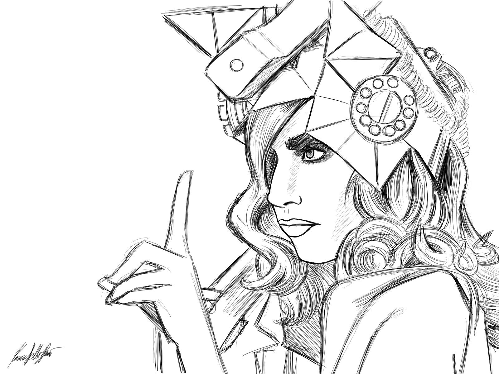 Desenhos Da Lady Gaga Para Colorir
