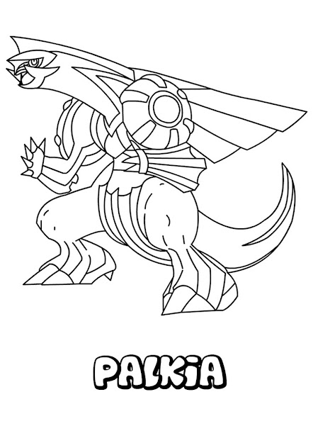 Pokemon Coloring  And Color Nicely This Palkia Coloring Page From Water Pokemon  Coloring