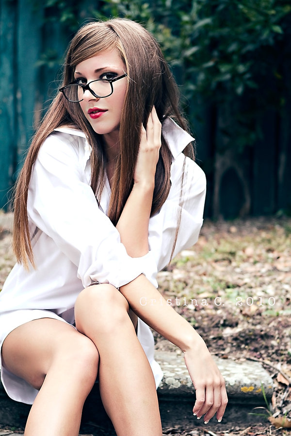 Hot girls with glasses to brighten your day