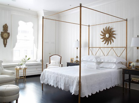 captivating white gold bedroom decor | A Simple Kind of Life: Guest Room Color Scheme