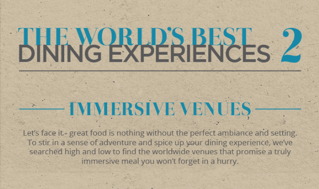 The World's Best Dining Experiences: Immersive Venues