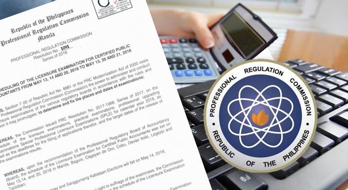 PRC reschedules May 2018 CPA board exam