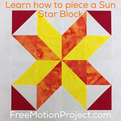 How to piece a patchwork Sun Star Block