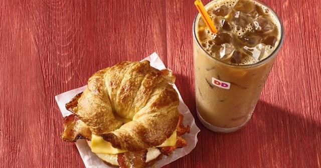 dunkin donuts maple breakfast sandwich and maple coffee Dunkin Donuts Coffee Flavors