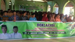 Jaringan Santri NTB Deklarasi Dukung Jokowi