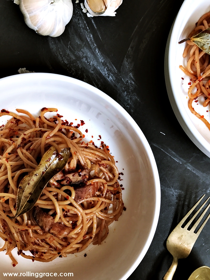 easy pasta with red wine