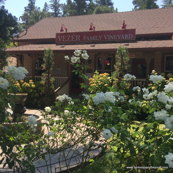 exterior of Vezer Family Vineyard in Fairfield, California