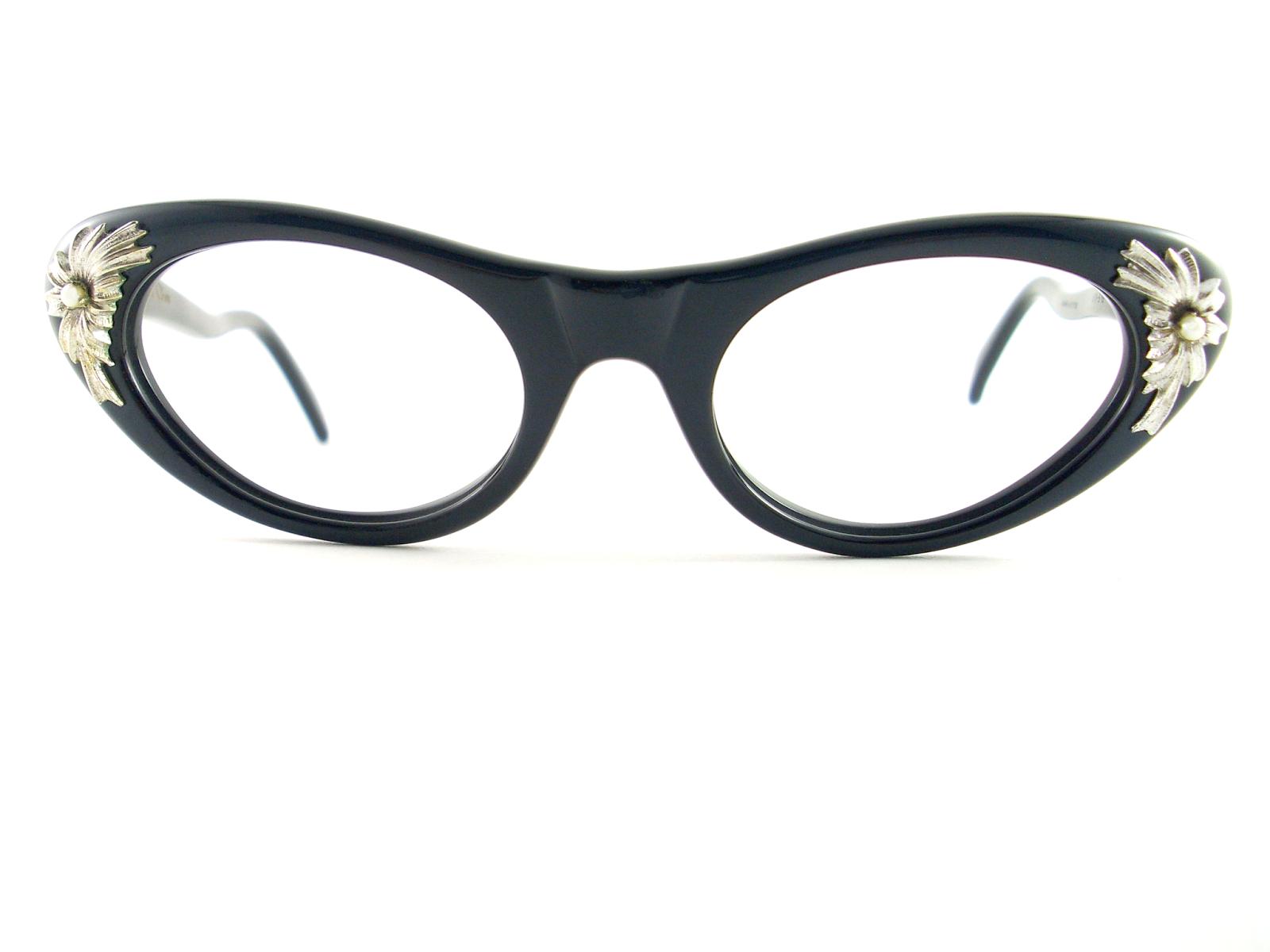39777ba15fc Vintage Eyeglasses Frames Eyewear Sunglasses 50S  VINTAGE CAT EYE ...