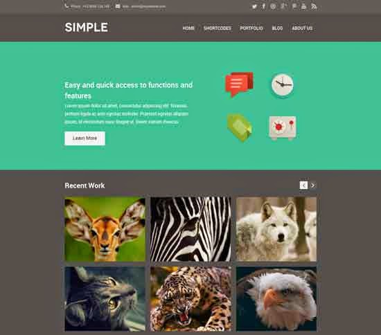 Simple Dark WordPress Theme