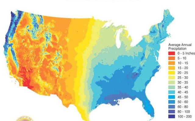 Precipitazioni Annue Stati Uniti