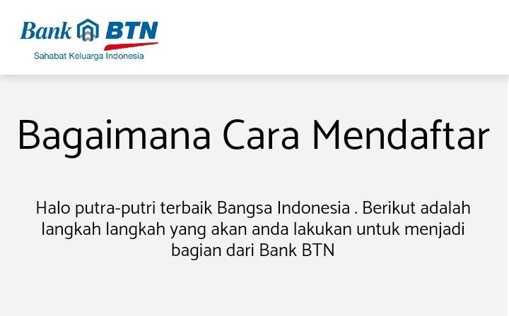 Cara Mendaftar Kerja di Bank BTN Secara Online