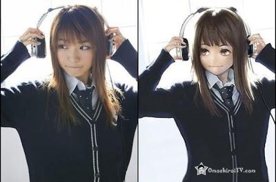 Fabulous Anime Vs Real Life Girl Omoshiroitv Hairstyle Inspiration Daily Dogsangcom