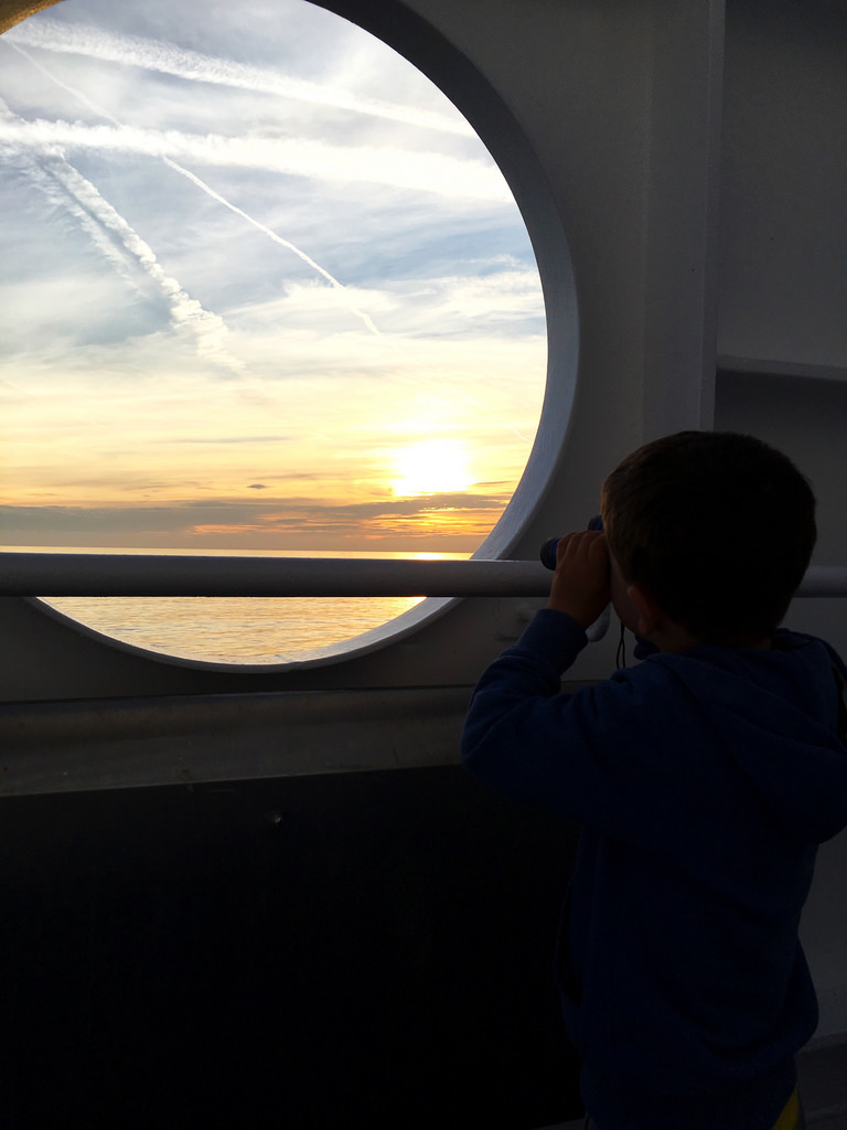 On board the Armorique, Brittany Ferries