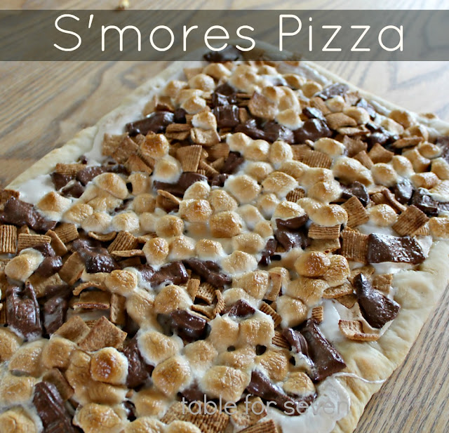 S'mores Pizza with Homemade Pizza Dough