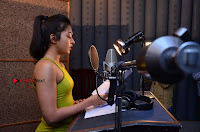 Actress Catherine Tresa Pos during Self Dubbing for Gautham Nanda Movie  0037.JPG