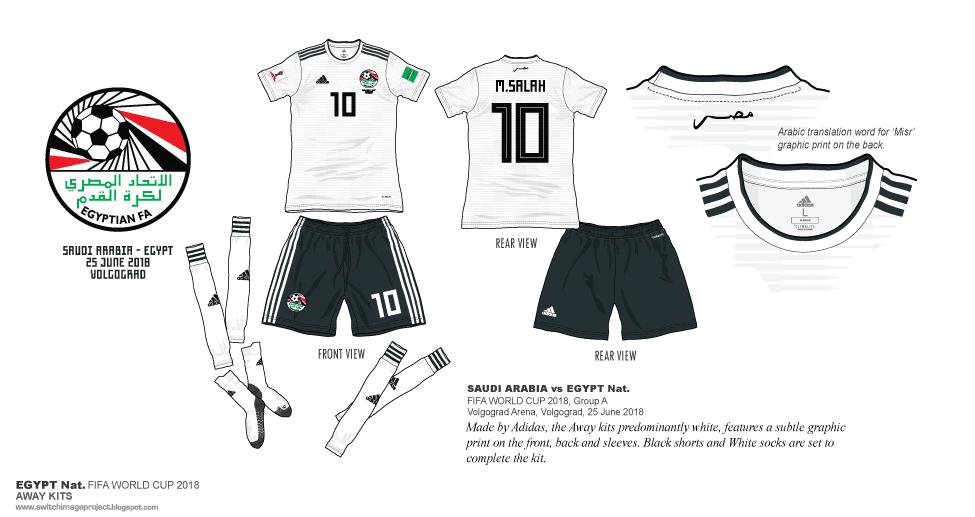 Football teams shirt and kits fan  Egypt WC 2018 Away Kits 7b391a1c4