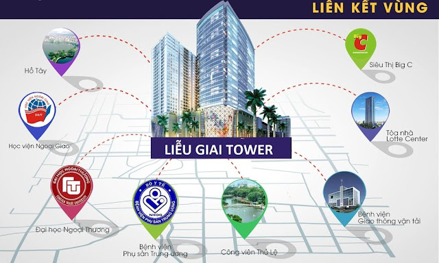 Kết nối tiện ích lân cận chung cư Liễu Giai Tower