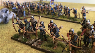 28mm Perry Wars of the Roses archers miniatures