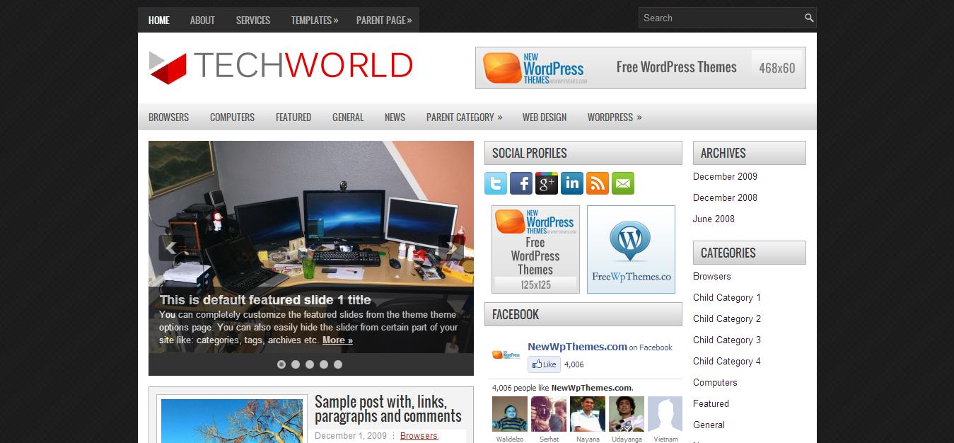 Wordpress Template | Cool Blog Templates | Premium Blogger Templates ...