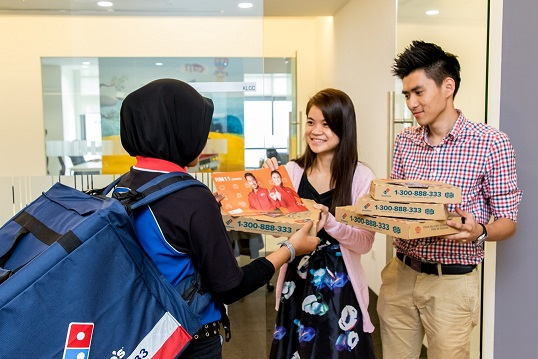 11street's partnership with Domino's Pizza Malaysia means that every shopper who buys something from 11street will receive a voucher code to redeem free pizza from Domino's Pizza Malaysia