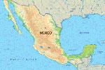 Localización de las principales cordilleras en el mapa físico de México