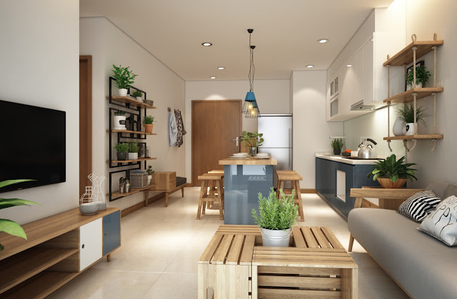 phong cách nội thất cho căn hộ nhỏ