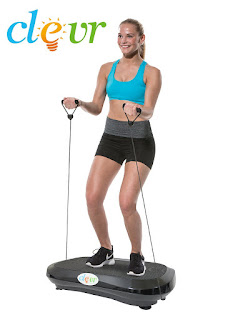Ultraslim Black Crazy Fit Full Body Vibration Platform Massage Fitness Machine with resistance bands, picture, image, review features and specifications