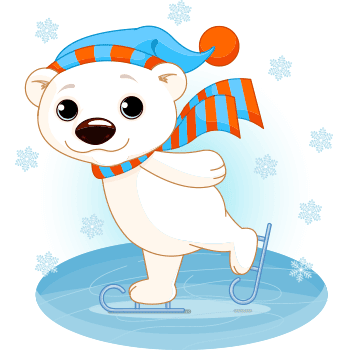 Skating Polar Bear
