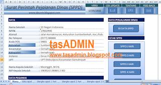 aplikasi surat perintah perjalanan dinias sppd