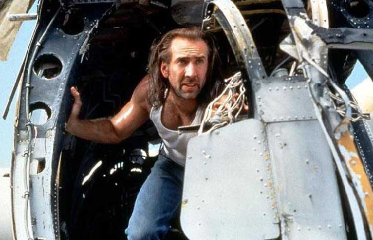 Nicholas Cage tries to save the day in Con Air.