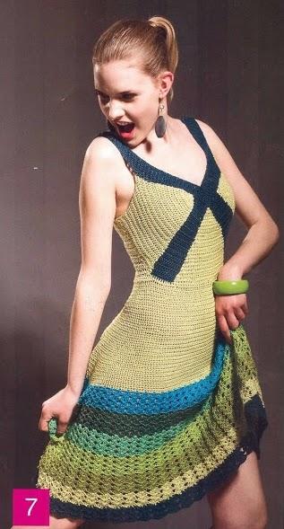 Vestido Verde Mar a Crochet
