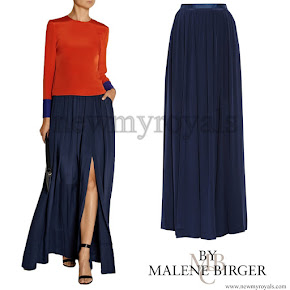 Crown princess Mary Style By Malene Birger Long Skirt