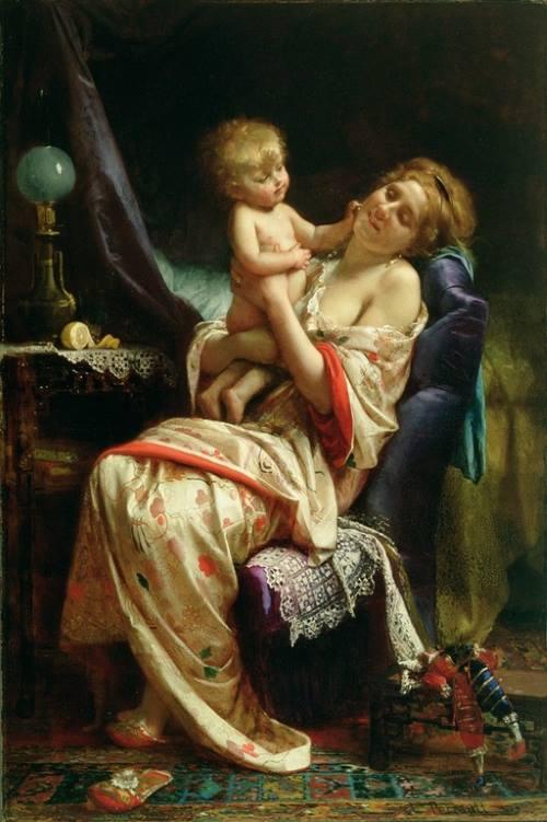 Maternidade, pintura de Léon Bazile Perrrault.