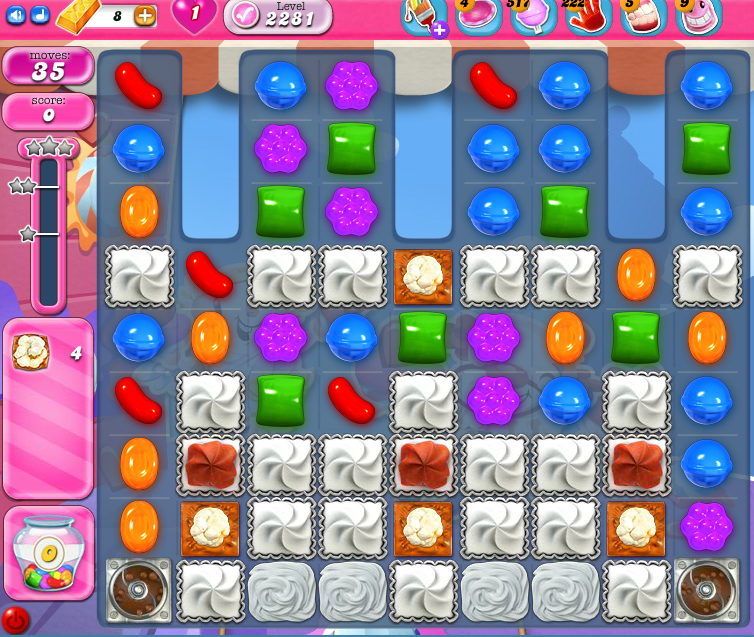 Candy Crush Saga level 2281